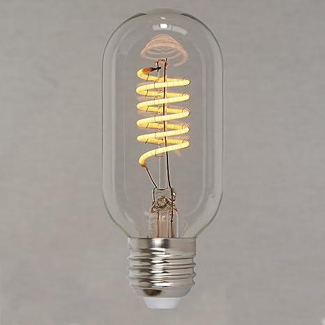 Bombilla LED Edison estilo vintage regulable, de 40 W, con espiral de 45 mm