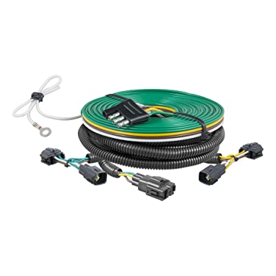 CURT 58902 Custom Towed-Vehicle RV Wiring Harness for Dinghy Towing Select Jeep Wrangler TJ: Automotive