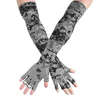 Sonnenschutz Fahrradhandschuh Atmungsaktive Mesh Sport Handschuhe Herren Damen Laufhandschuhe Elastisch Rutschfest Gloves Motorrad Fahrrad Camping Wandern Outdoor Warm Schwarz Sommer Fr/ühling Herbst