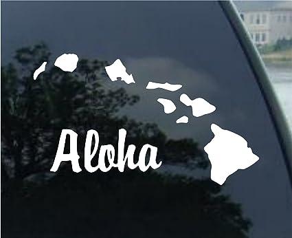 Aloha hawaiian island hawaii decal sticker die cut vinyl decal for windows cars