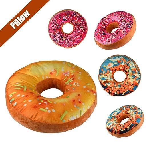 Almohada con forma de donut, diseño de chocolate en 3D, para ...
