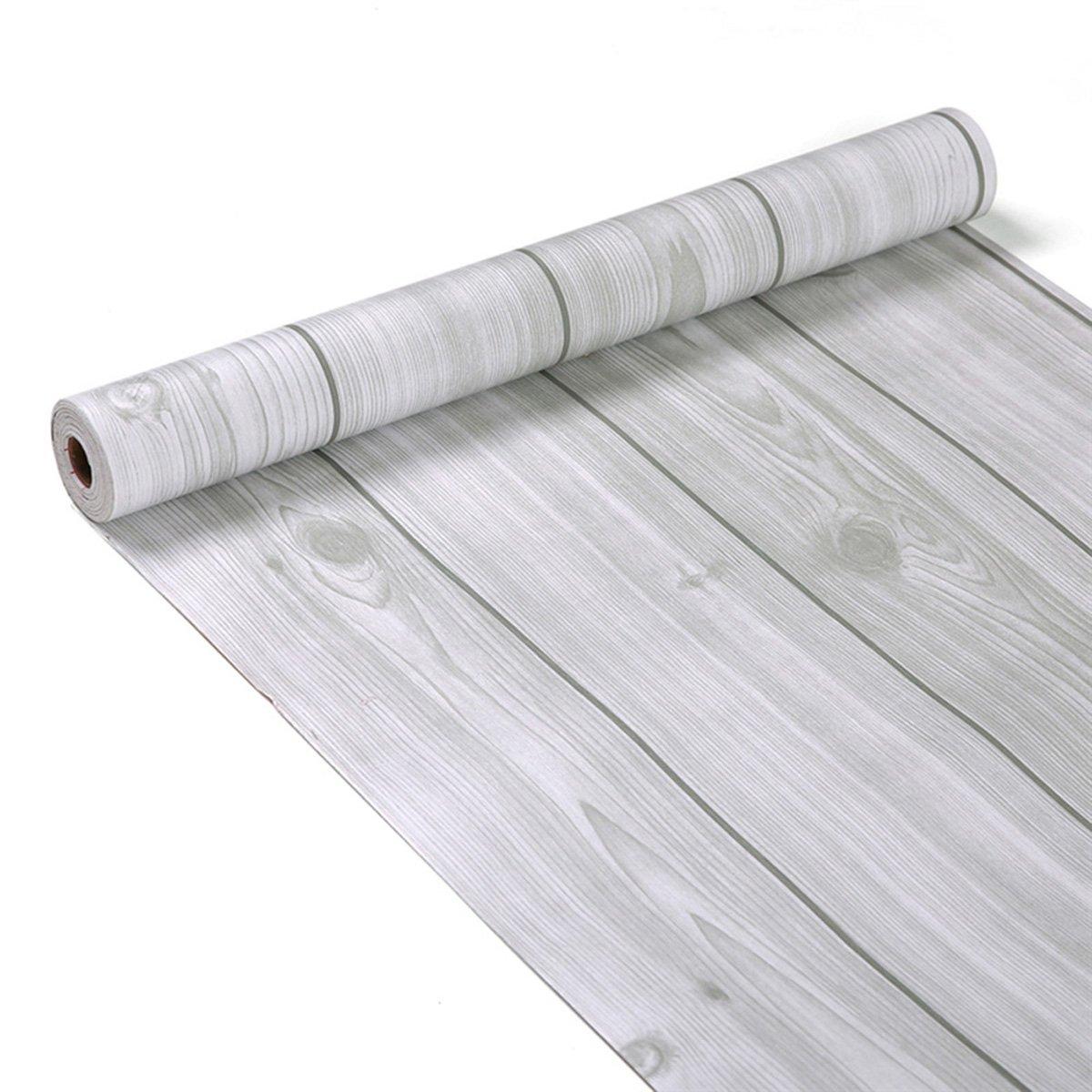 Grain de bois décoratifs Contact papier autocollant Shelf Liner Peel et bâton papier peint haute qualité pour meuble de cuisine Countertop étagères projets d'artisanat 45x 199,9cm