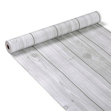 Amazon Com Grey Wood Panel Pattern Contact Paper Self Adhesive