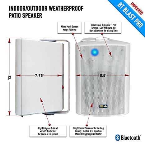 Workbook ay sound worksheets : Amazon.com: Sound Appeal SA-BLAST6-W 6.50-Inch Bluetooth Speakers ...