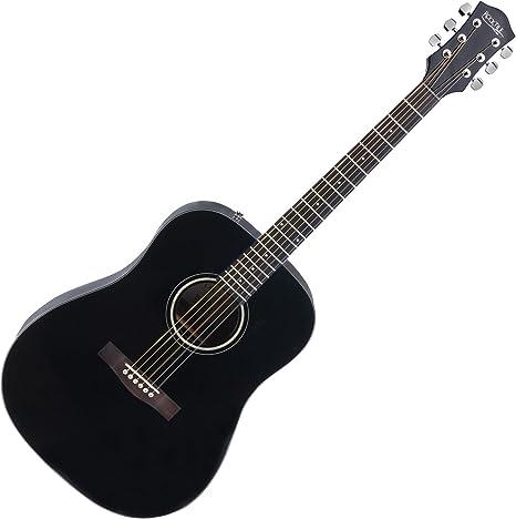 Rocktile Guitarra acústica D-60 negro: Amazon.es: Instrumentos ...