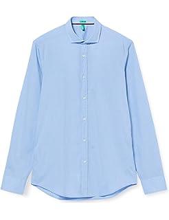 United Colors of Benetton Shirt Camisa, Azul (Blue 901), Medium para Hombre: Amazon.es: Ropa y accesorios