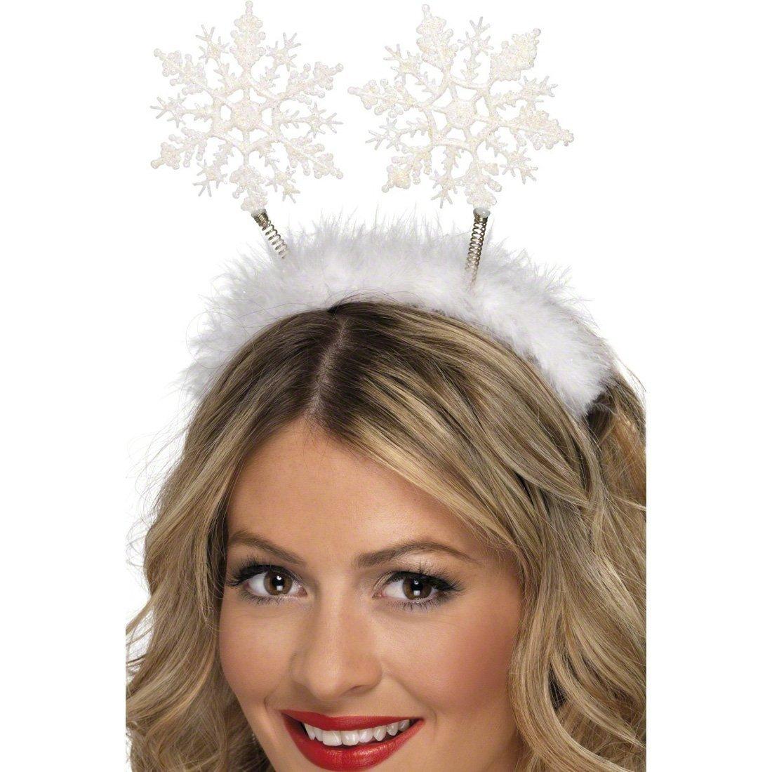 Diadema de Navidad con copos de nieve accesorios joyer/ía traje