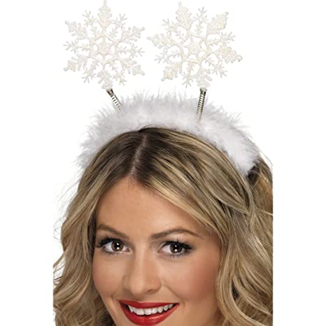 data di rilascio nuovo arriva colore attraente Natale accessori per capelli fiocchi di neve fascia ...