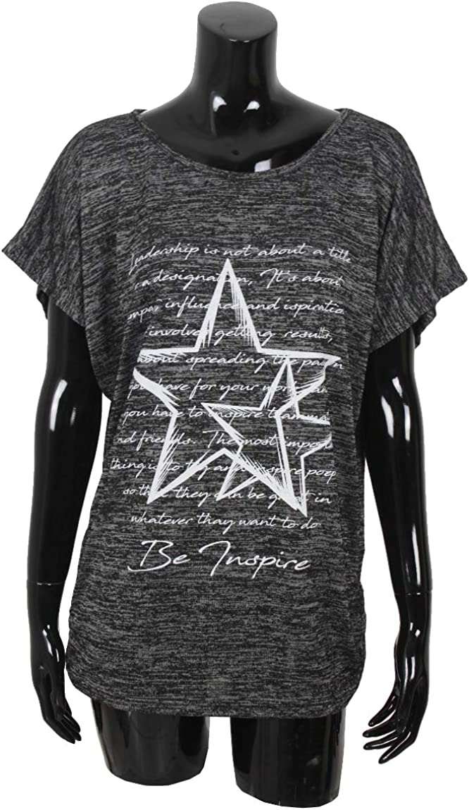 Made in Italy Emma /& Giovanni - Donna T-Shirt//Top