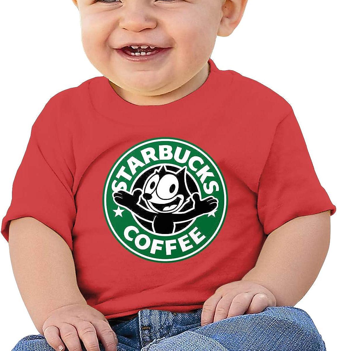 RZJMRU Felix The Cat Seal Custom Soft Tee for Baby Boy T-Shirts Black