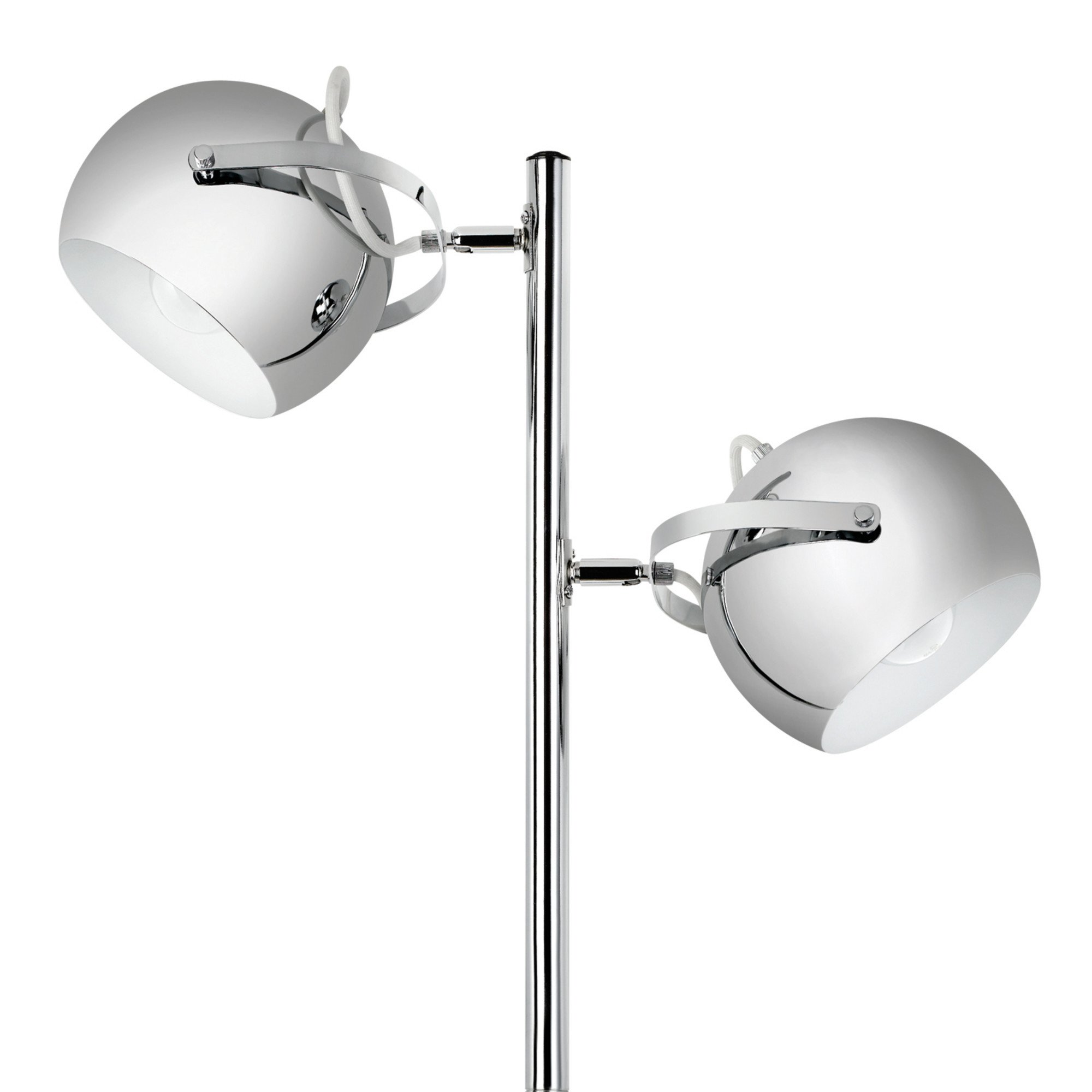 Globe Electric Miles 2-Light Adjustable Head Floor Lamp, On/Off Foot Switch, Chrome Finish, 12807 by Globe Electric (Image #3)