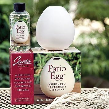 Patio Egg: Mosquito U0026 Insect Deterrent U0026 Diffuser: Includes Essential Oils