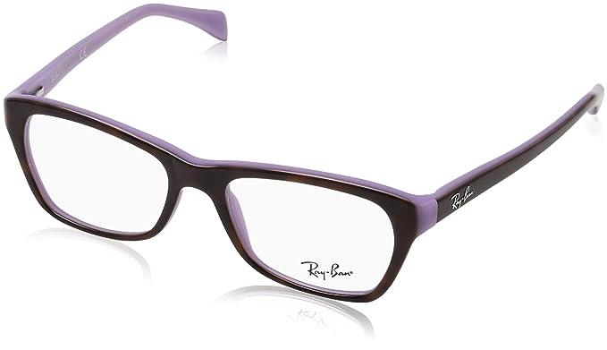 RAYBAN 0rx 5298 5240 53, Monturas de Gafas para Mujer, Top Havana on Violet