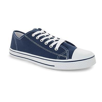 Low top Turnschuh Textil Schuhe Farbe Schwarz, Größe 40