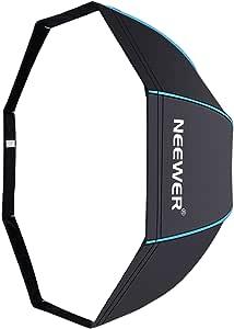 Neewer 80 Centímetros Portable Octagonal Paraguas Softbox para Flash de Estudio, Speedlite, con Difusor Blanco y Bolsa de Transporte para Fotografía de Producto Retrato (Negro / Azul): Amazon.es: Electrónica