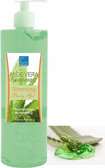 Gel De Aloe Vera Y Algas Adelgazante 500 Ml Con Dispensador Hidratante Remodelante Perdida De Peso Con Algas Marinas Anti Celulitis Amazon Es Belleza