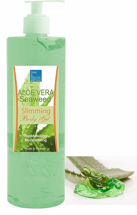 Gel de Aloe Vera y Algas Adelgazante 500 ML con Dispensador - Hidratante Remodelante Perdida de Peso con Algas Marinas Anti Celulitis