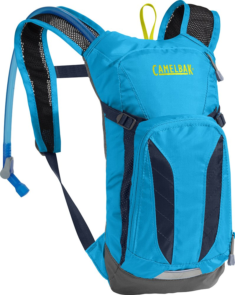 CamelBak Kids' Mini M.U.L.E. Hydration Pack - Kids Biking Backpack - 20 Percent More Water Per Sip - Built-in Safety Whistle - Reflective Strips - 50 Ounce by CamelBak