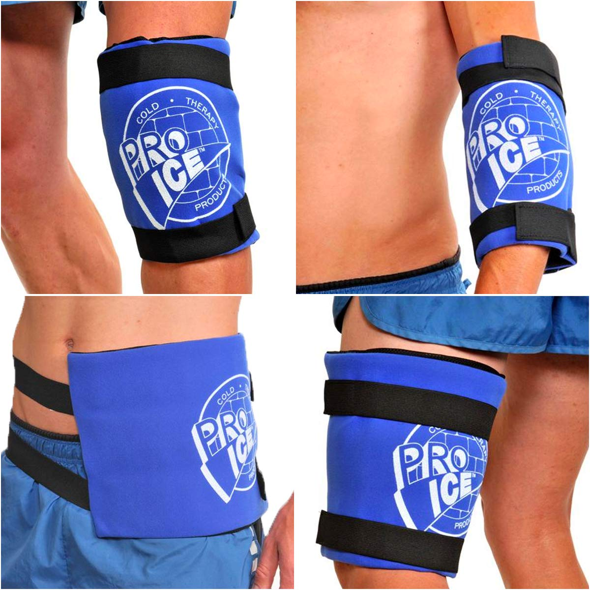 Pro Ice Knee Hip or Back Real Ice Therapy Wrap Wearable Multi-purpose Icing Compression Support PI400 by PRO ICE COLD THERAPY PRODUCTS