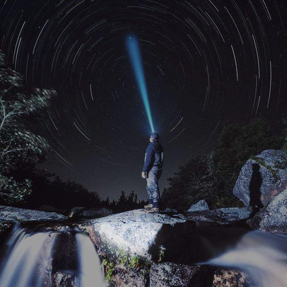 zum Wandern und zum Spazierengehen Jirvyuk LED Stirnlampe Wasserdicht Kopflampen Super helle LED-Lampen zum Campen Wasserdichter Scheinwerfer Perfekt zum Laufen