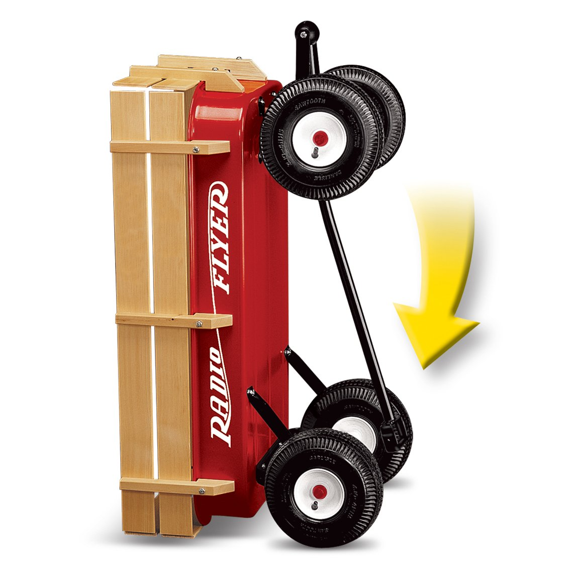 Radio Flyer Full Size All-Terrain Steel & Wood Wagon by Radio Flyer (Image #4)