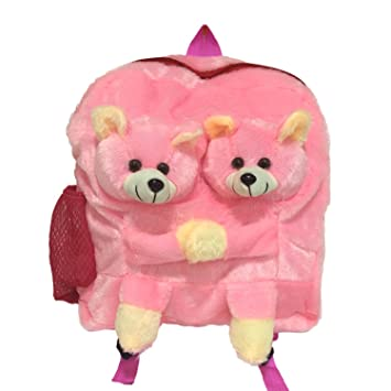 f4fe4ce1247 Buy Ultra Twins Teddy School Bag 14 inches (Pink) Online at Low Prices in  India - Amazon.in