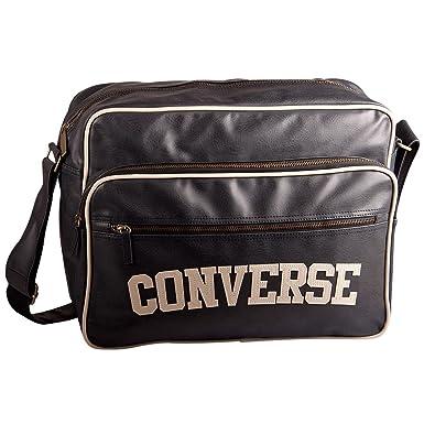0e0eddee25256 Converse Tasche Oldschool Pocketed Reporter Heritage PU Bag schwarz - 42 cm  x 32 cm x