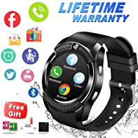 Smart Watch Android, Bluetooth Smartwatch Touch Screen Orologio Intelligente Telefono Watch Sports Smart Braccialetto Wrist Watch per Uomo Donna Bambini Android Samsung Huawei Ios iPhone Smartphone