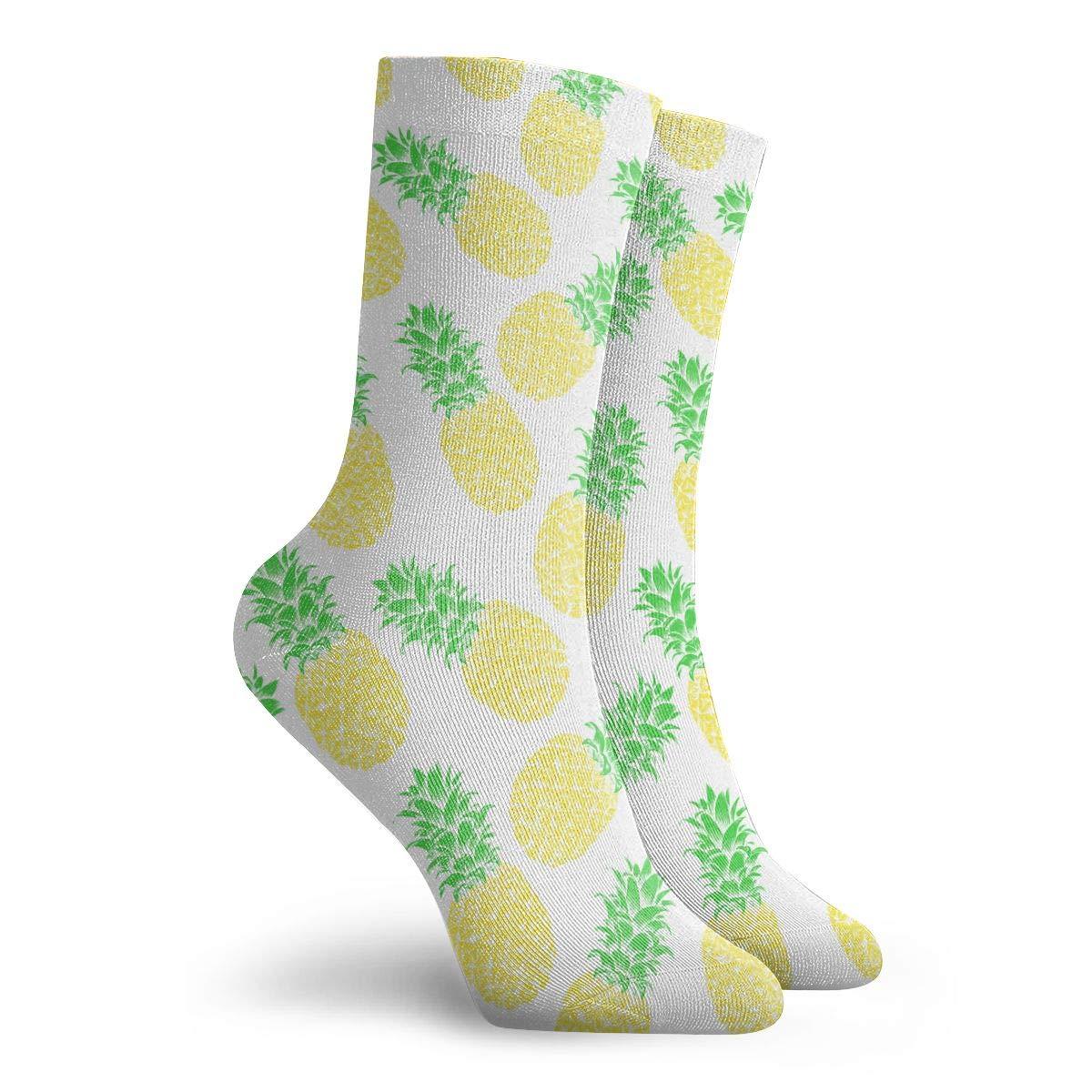 Unisex Pineapple Pattern Athletic Quarter Ankle Print Breathable Hiking Running Socks