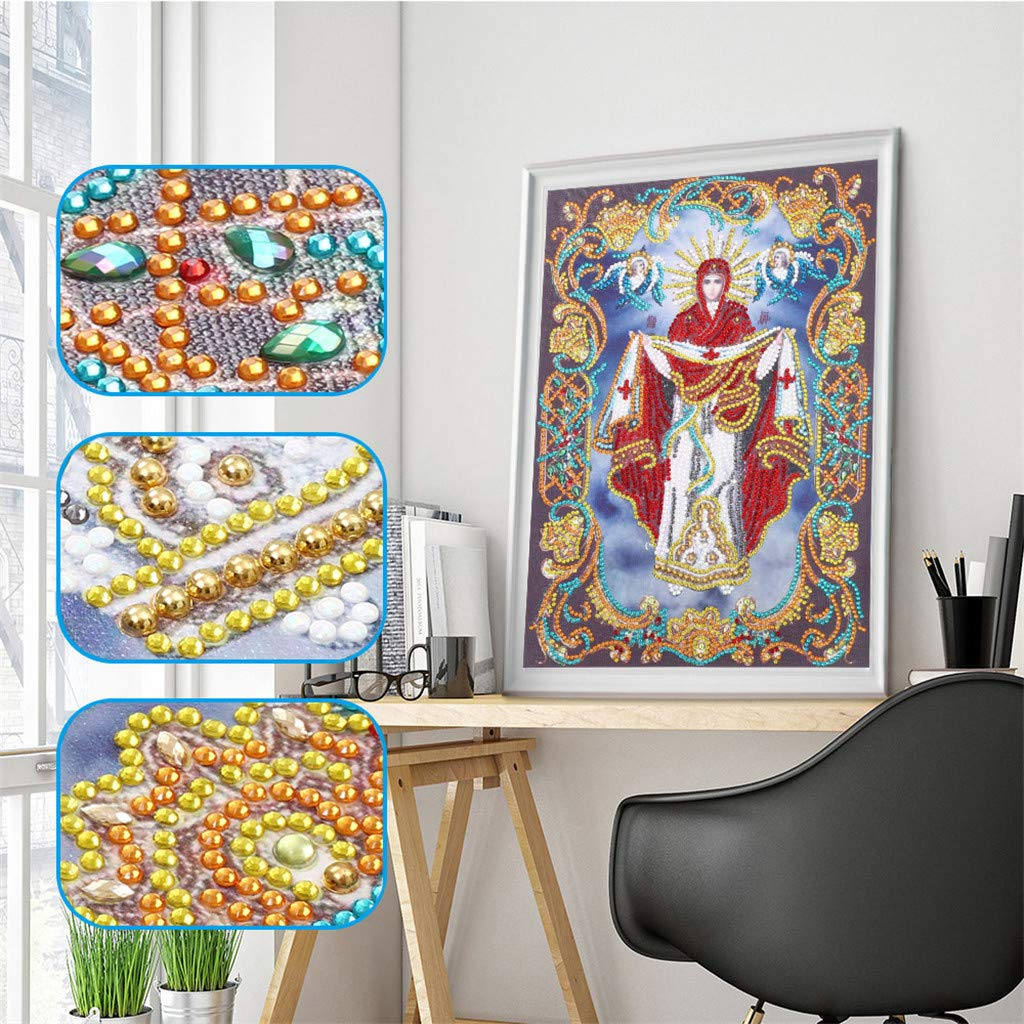 Special Shaped Diamonds Painting DIY 5D Partial Drill Cross Stitch Kits Crystal Diamond Painting Kits for Adults