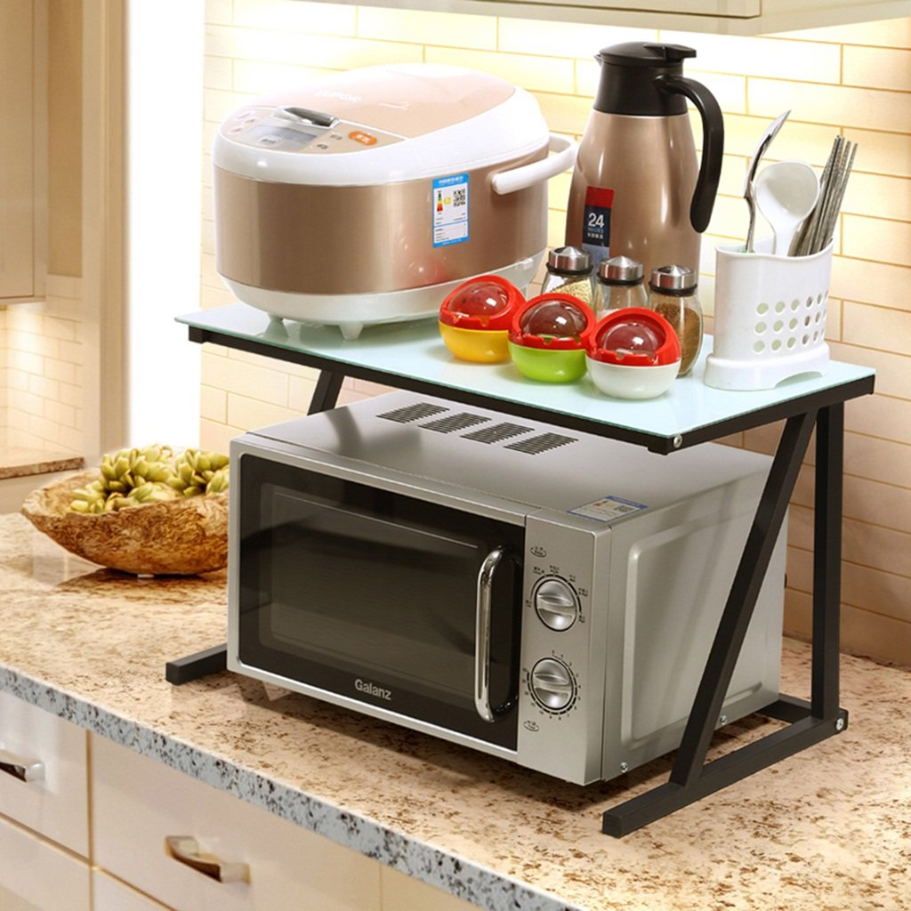 BOBE SHOP- Küchen-Lagerregal - 2 Schichten Mikrowellen-Ofen-Regal ...