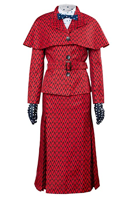 2018 María Poppins Returns Mary Dress Hat Red Version Traje ...