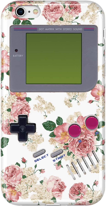 VIVIBIN iPhone 6 Case,iPhone 6s Case,Cute Flowers Game Box Design for Women Girls Clear Bumper Soft Silicone Rubber Matte TPU Best Protective Cover Slim Fit Phone Case for iPhone 6/iPhone 6s