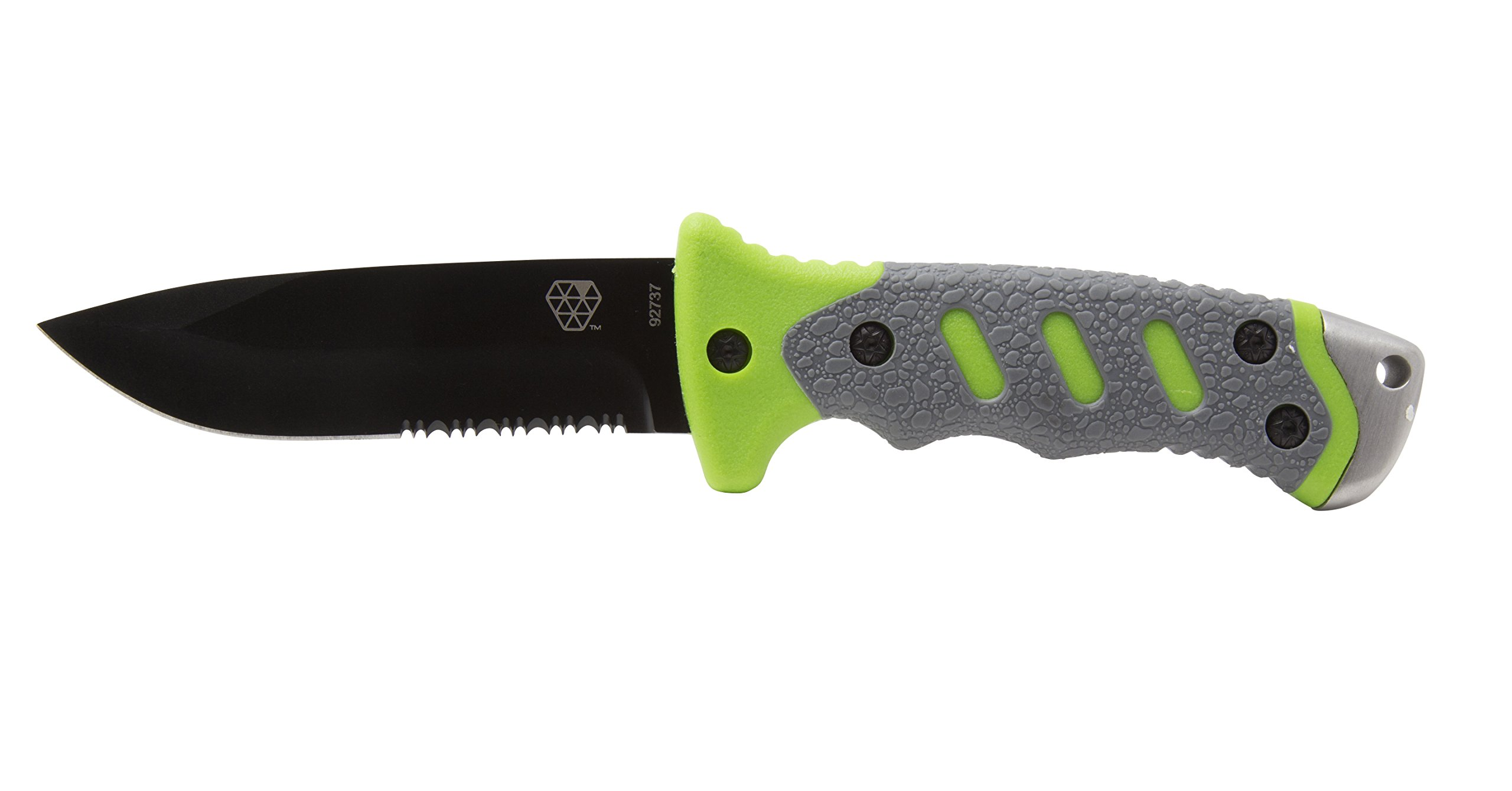 Boundary 92737 Outdoor Survival Knife with Fixed 4.5-inch Partially Serrated 420 Stainless Blade and Sheath, Survival Tools by Boundary (Image #4)