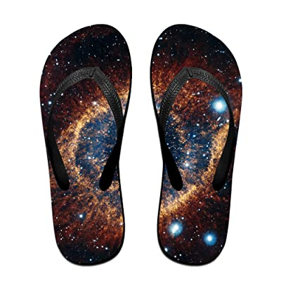 Double Happiness Summer Unisex Space Eye Nebula Galaxy Classical Comfortable Flat Home Sandal