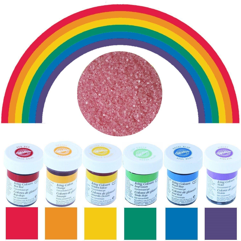 Wilton Lebensmittelfarben im Spar-Set 6 x 28 g - Regenbogenmix ...