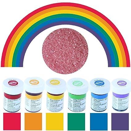 wilton lot de 6 flacons de colorant alimentaire couleurs de larc en - Colorant Alimentaire En Gel Wilton