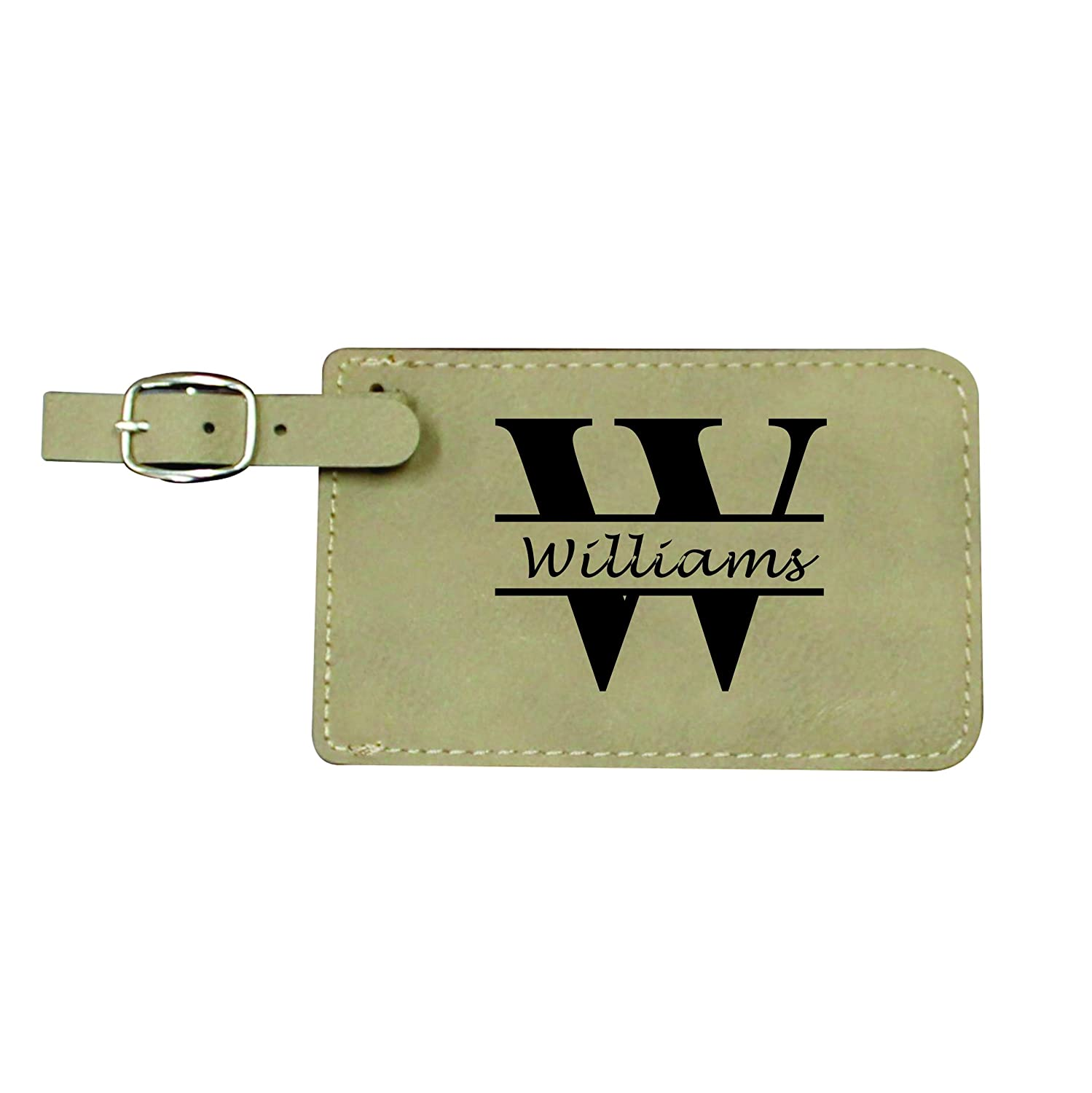 personalized luggage tags engraved monogrammed