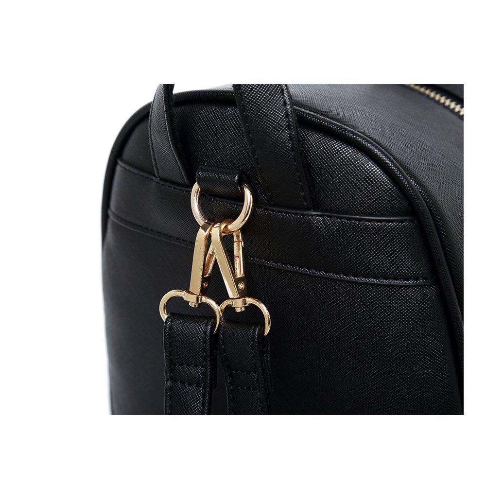 WINK KANGAROO Fashion Shoulder Bag Rucksack PU Leather Women Girls Ladies Backpack Travel bag (Black Small Size) by WINK KANGAROO (Image #4)