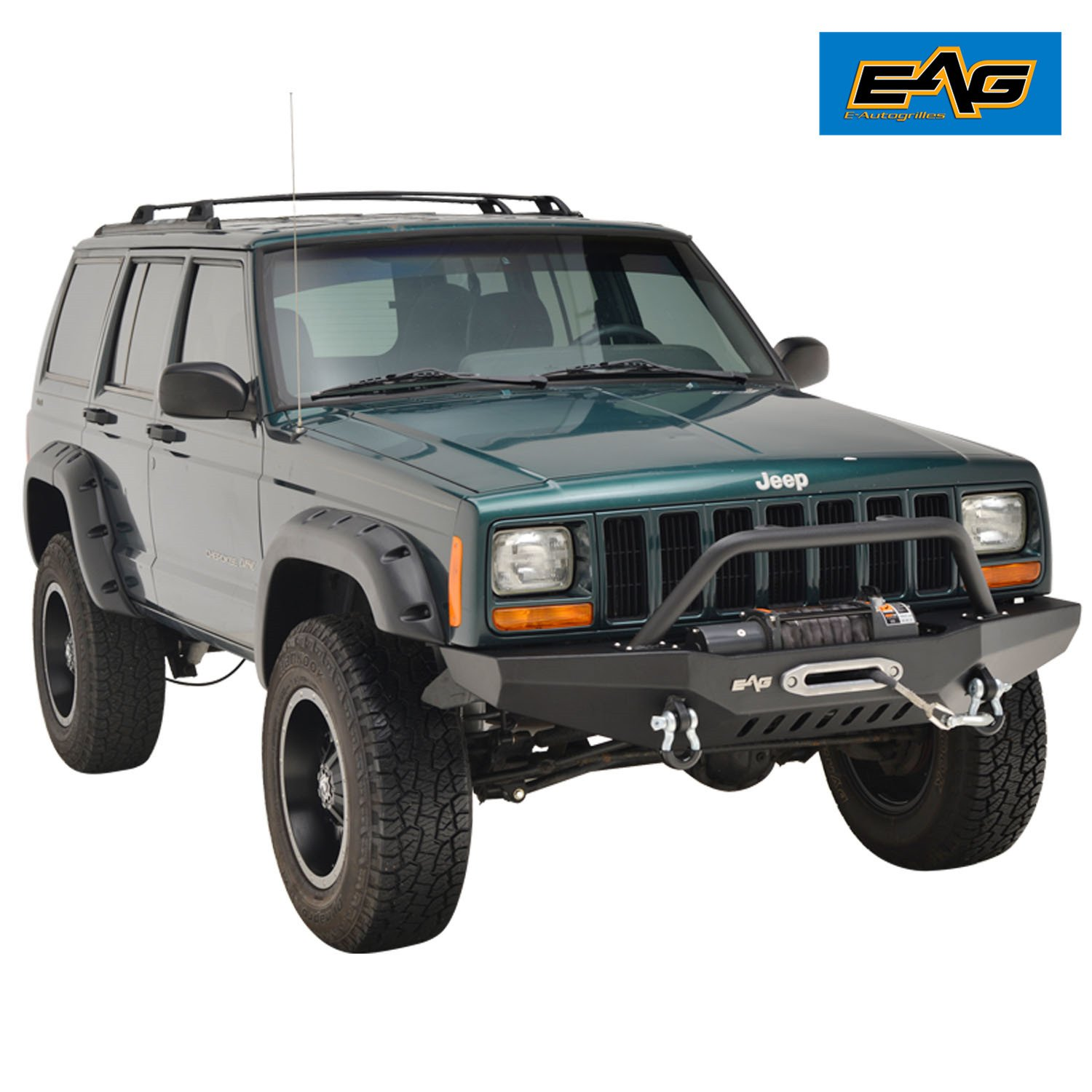 Eag Off Road Front Bumper With Winch Plate For 1984 2001 1999 Jeep Cherokee Forum Xj Automotive