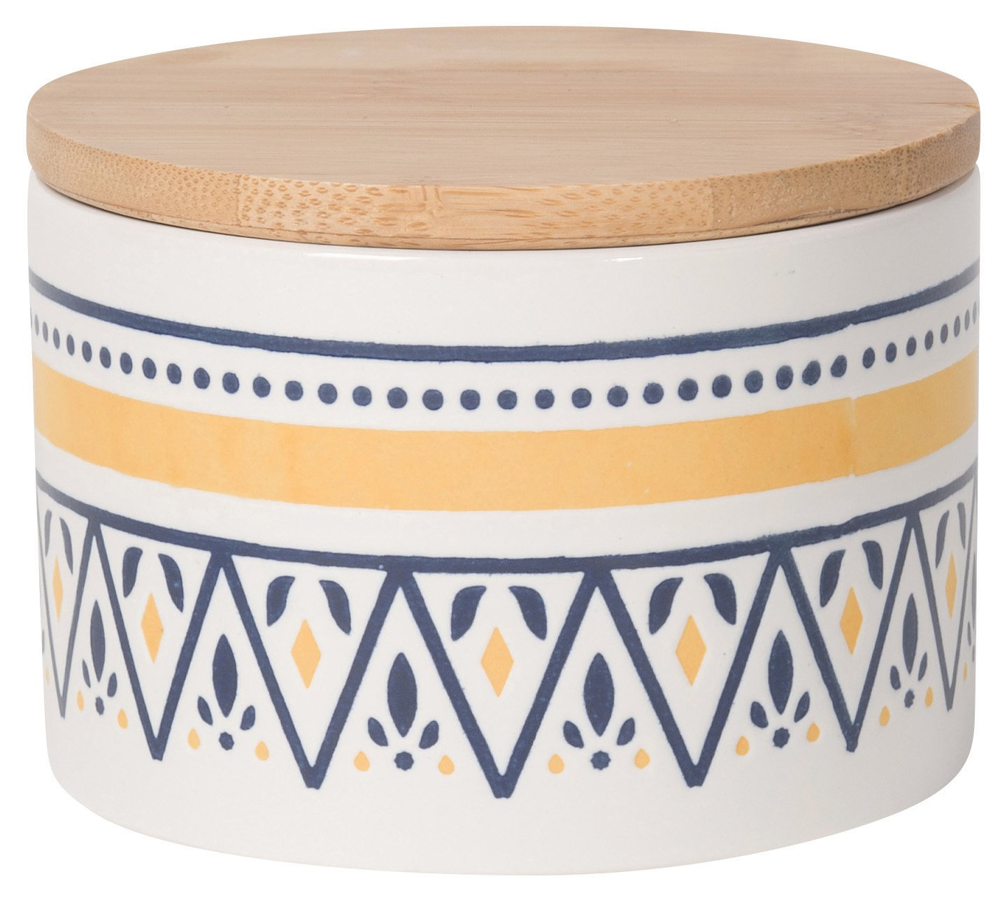 Now Designs Embossed Storage Canister, Small, Medina Design (5066005) Danica Imports Ltd.