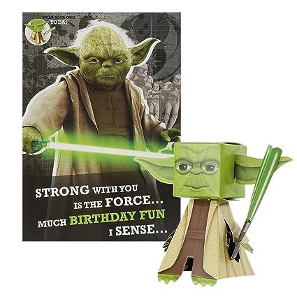 Star Wars - Tarjeta de cumpleaños, diseño para crear to propio Yoda