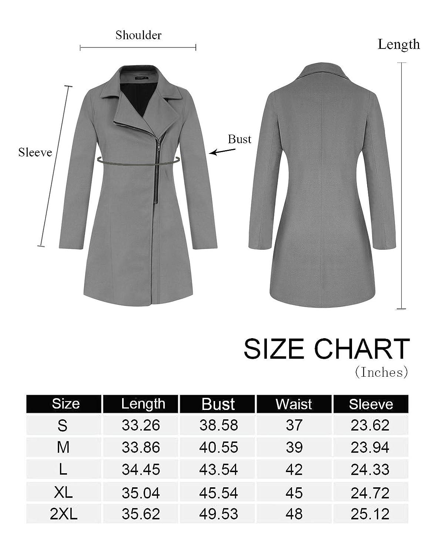 CHICIRIS Women Winter Lapel Collar Warm Oblique Zipper Sweater Jacket with Pockets S-2XL