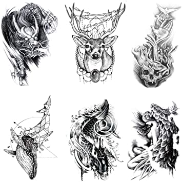 Amazon Com 6 Sheets Temporary Tattoos Stickers Black Temporary Tattoo Templates Fake Body Arm Chest Shoulder Tattoos For Men Beauty Download 240,000+ royalty free tattoo vector images. 6 sheets temporary tattoos stickers