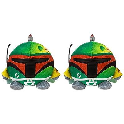 2 Boba Fett Star Wars Palz Plush Night Light! 6inch Height 8inch Wide! Perfect Nightstand Pal for Your Little Padawan! (2, Boba Fett)