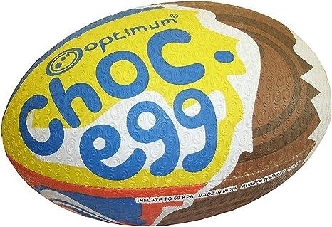 OPTIMUM – Balón de Rugby (Chocolate, diseño de Huevo: Amazon.es ...