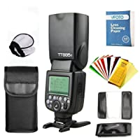 Godox TT685 F TTL Maestro-esclavo GN60 2.4G Transmisión HSS 1 / 8000S Flash Speedlite con Flash Filtros de Color para Fuji DSLR Cámaras X-Pro2/X-T20/X-T2/X-T1/X-Pro1/X-T10/X-E1/X-A3/X100F/X100T (TT685F)