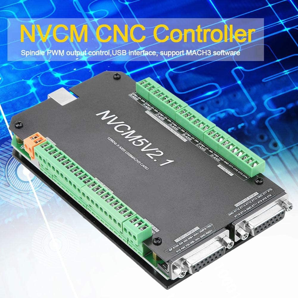 Motion Control Card NVCM 5 Axle CNC Controller MACH3 USB Interface Board Card for Stepper Motor Control