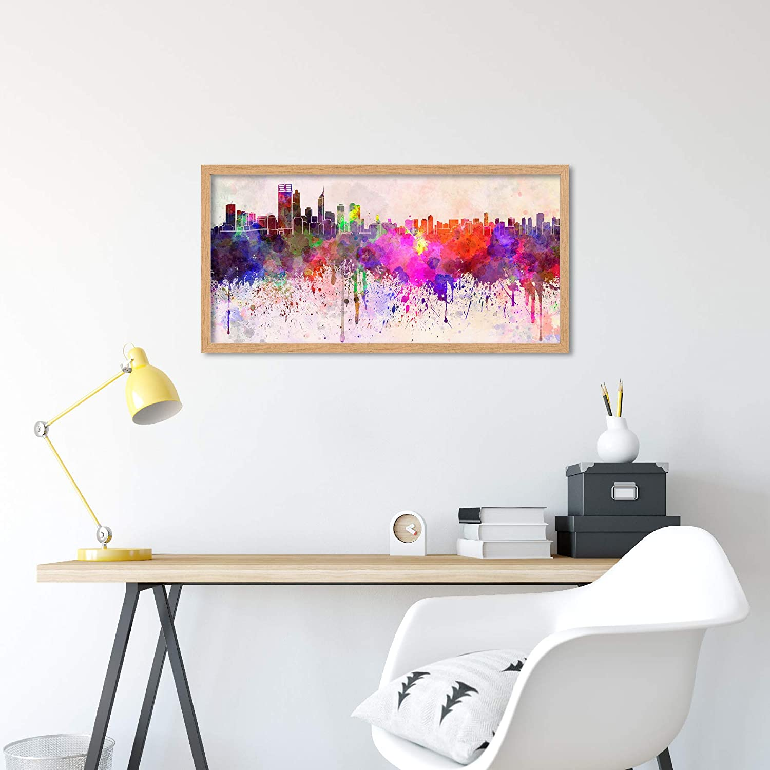 Amazon Com Wee Blue Coo Perth Australia Skyline Paint