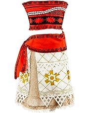 LOEL Girls Princess Moana Costumes Adventure Skirt Halloween Fancy Party Dress